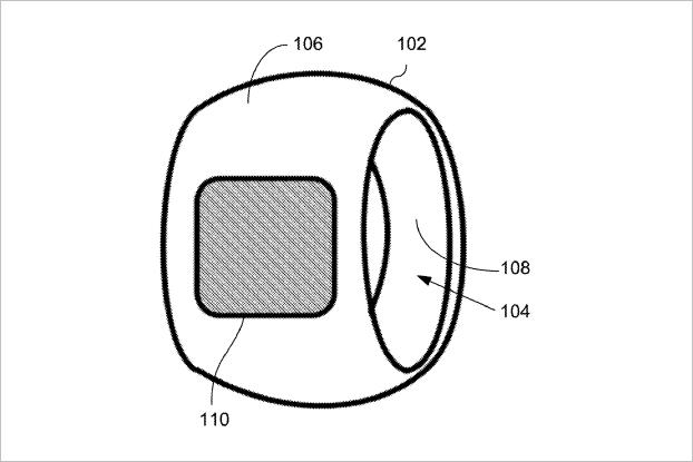 Apple подала патент на смарт-кольцо. Изображение № 1.