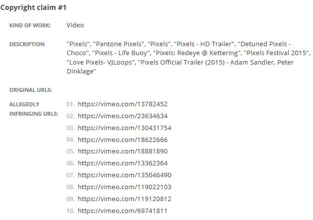 У Vimeo потребовали удалить все видео с названием «Пиксели» . Изображение № 3.