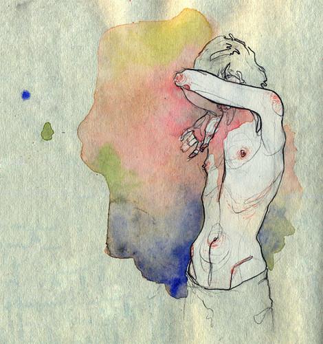 Чувства; карандашом и акварелью. Изображение № 5.