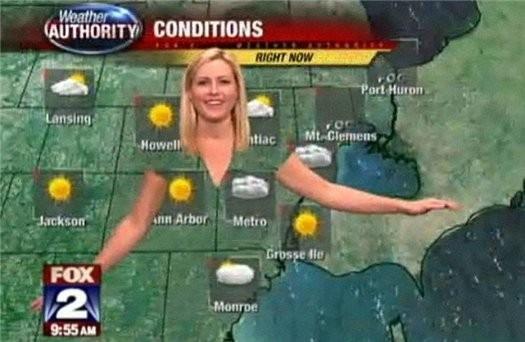 Почему метеорологам нельзя носить зеленую одежду?. Изображение № 2.