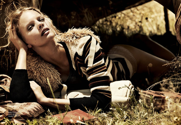 Marloes Horst by Will Davidson for Harpers Bazaar Australia March2012. Изображение № 4.