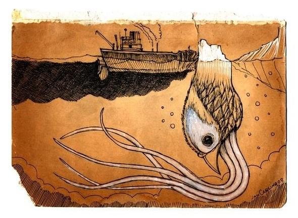 Jon Carling – мистерии в гелевой ручке. Изображение № 13.