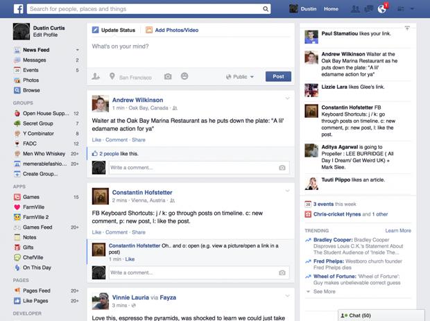 Причиной редизайна Facebook стали старые компьютеры. Изображение № 2.