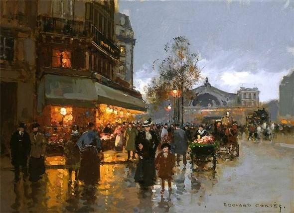 Эдуард Леон Кортес. Перенесёмся в Париж. Изображение № 9.