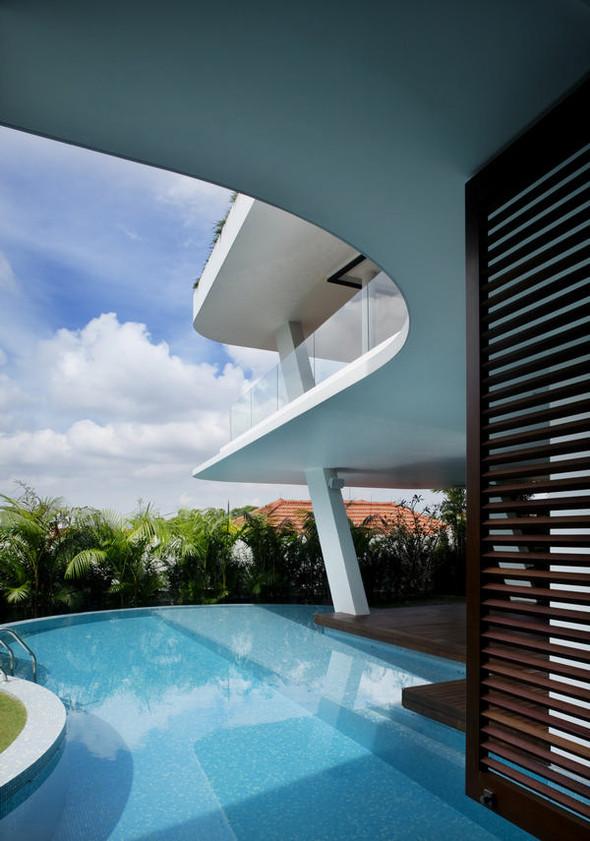 «Трехпалубная» вилла от Aamer Architects. Изображение № 5.