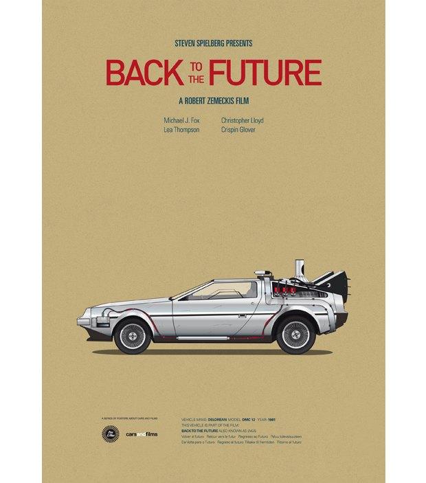 Хиты Голливуда представлены в постерах с культовыми авто . Изображение № 6.