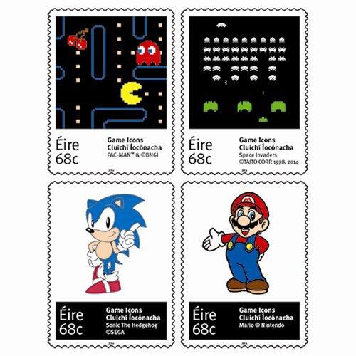 Ирландская почта выпустила марки с Соником и Марио. Изображение № 1.