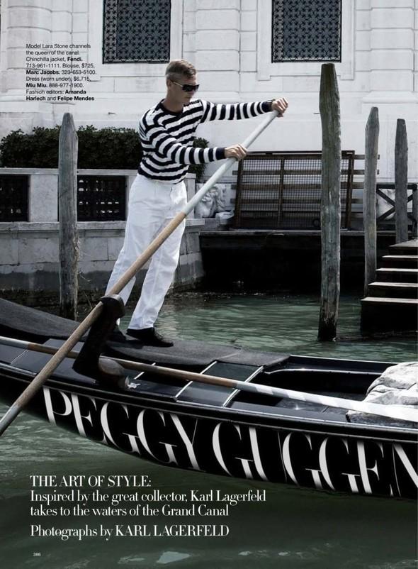 Lara Stone: Harper's Bazaar, September 2009. Изображение № 2.