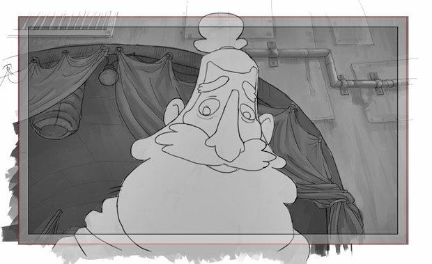Анимация: бродяга спасает пса встимпанковском городе. Изображение № 36.