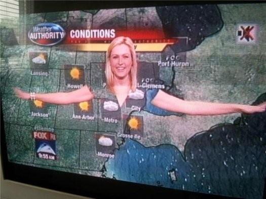 Почему метеорологам нельзя носить зеленую одежду?. Изображение № 3.