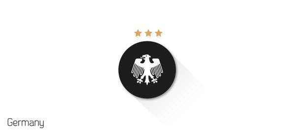 Представлены «плоские» версии гербов национальных сборных . Изображение № 21.