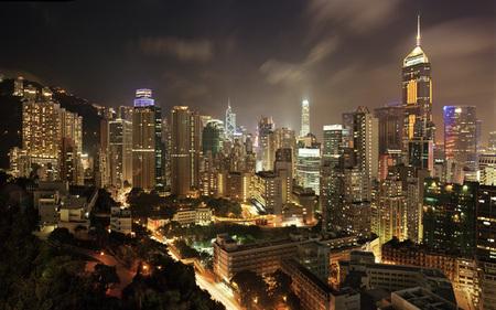 Мегаполисы ночью Гонконг, Дубаи, Нью-Йорк, Шанхай. Изображение № 3.