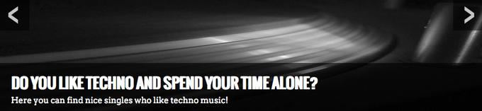 В сети появился сайт знакомств для любителей техно. Изображение № 1.