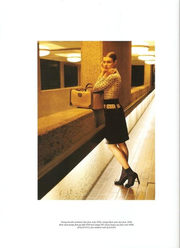 Съёмка: Наталья Водянова в Gucci для Love. Изображение № 3.