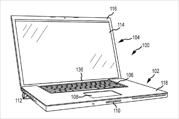 Apple получила патенты нааналог Surface Book иклавиатуру с3DTouch. Изображение № 2.