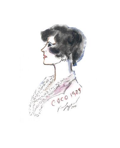 Иллюстрация Карла Лагерфельда к книге «Coco Chanel. Легенда и жизнь» . Изображение № 6.