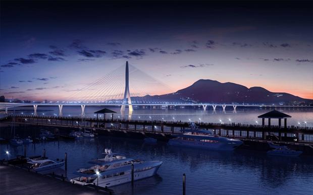 Бюро Захи Хадид создало вантовый мост c одной мачтой. Изображение № 11.