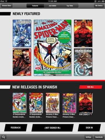 Версия приложения Marvel Global Comics для iPad. Изображение № 1.