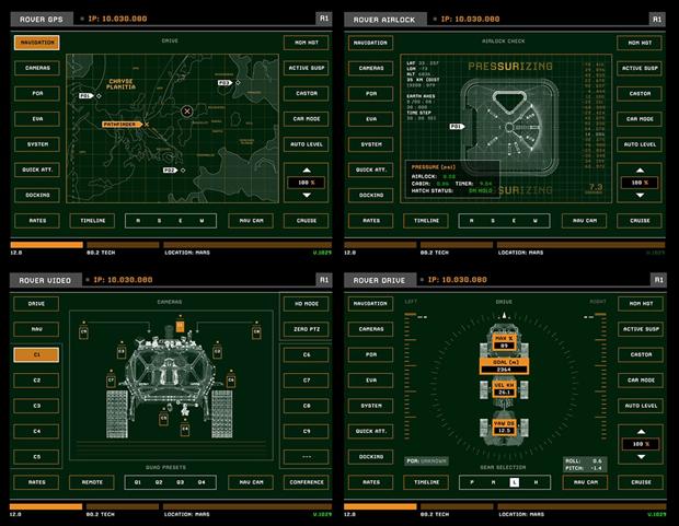 Студия рассказала обинтерфейсах в«Марсианине». Изображение № 12.