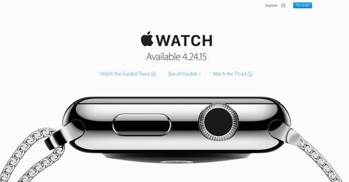 Apple удалила дату начала продаж Watch с сайта . Изображение № 1.