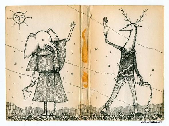 Jon Carling – мистерии в гелевой ручке. Изображение № 15.
