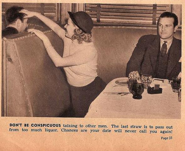 Как завоевать мужчину, вырезки из журнала 1938 года. Изображение № 14.