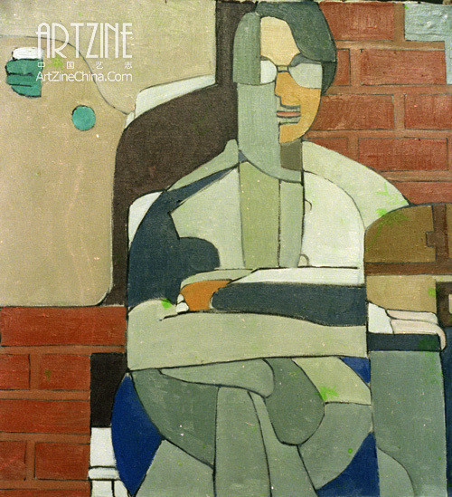 Хуан Жуй (Huang Rui). Self-portrait. 1980. Изображение № 3.