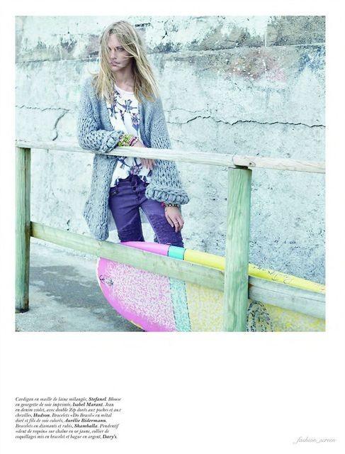 Съёмка: Саша Пивоварова и Наташа Поли для французского Vogue. Изображение № 3.