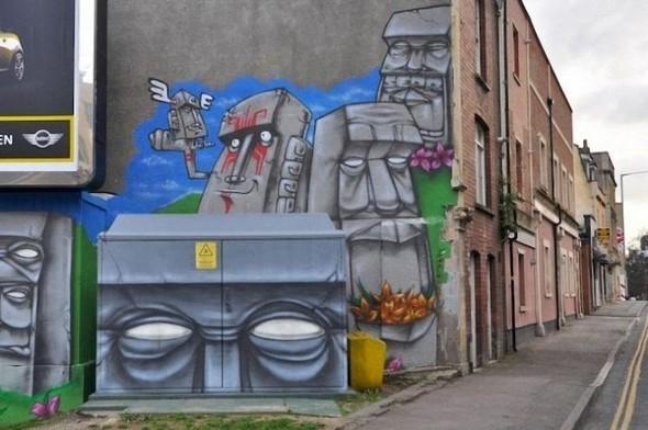 Изображение 9. Бристоль. Художественное граффити.. Изображение № 11.