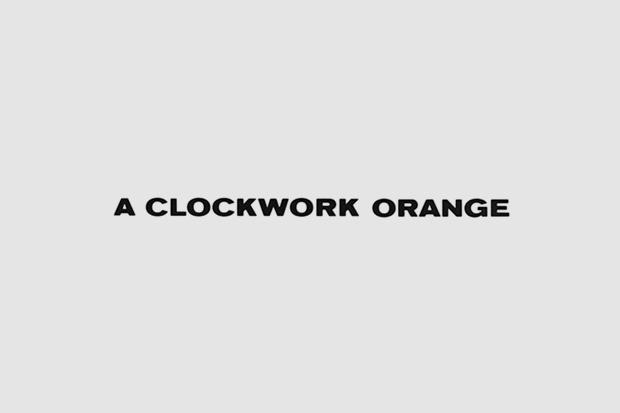 Логотип из титров или трейлера фильма «Заводной апельсин». Использован Standard. Изображение № 36.