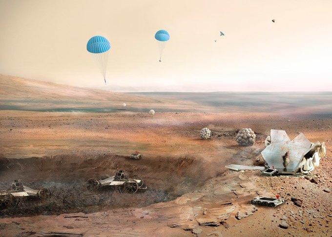 Архитекторы показали проект 3D-жилья для Марса . Изображение № 6.