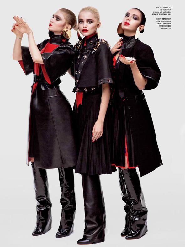 Новые съемки: Vogue, V, Elle и другие. Изображение № 21.