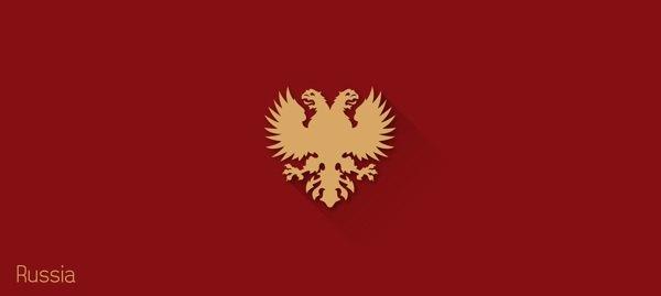 Представлены «плоские» версии гербов национальных сборных . Изображение № 22.
