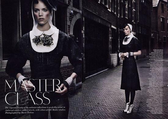 Съёмка: Аризона Мьюз и Фрея Беха Эриксен для британского Vogue. Изображение № 1.