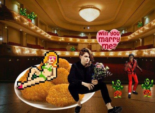 Я лежал на широкой кровати из куриных наггетсов c группой Christine and the Queens. Майкл Джексон танцевал Thriller. Кристина попросила меня на ней жениться. . Изображение № 5.