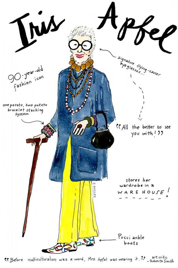 Иллюстрации икон моды от Джоаны Авильес. Изображение № 7.