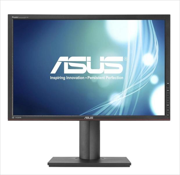 The Asus PA248Q — монитор с форматом изображения 16:10, экраном диагональю 24 дюйма и разрешением 1920x1200 Интерфейсы: D-Sub (VGA), DVI-D, HDMI 1.3, Display Port, Audio выход. Изображение № 11.