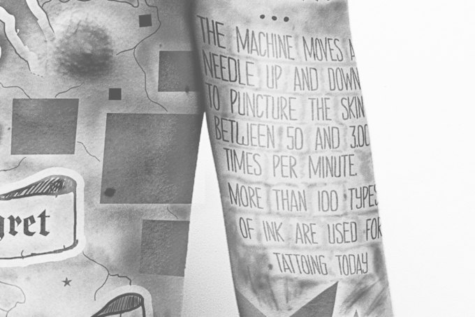Студент-дизайнер покрыл тело тату с инфографикой о тату. Изображение № 2.