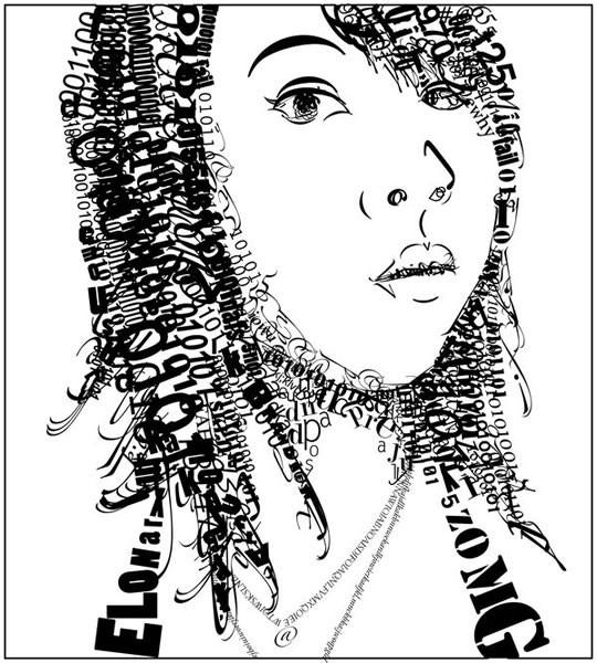 Портреты в типографике. Изображение № 36.