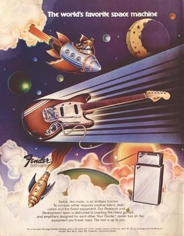 Винтажные рекламные постеры фирмы Fender. Изображение № 3.