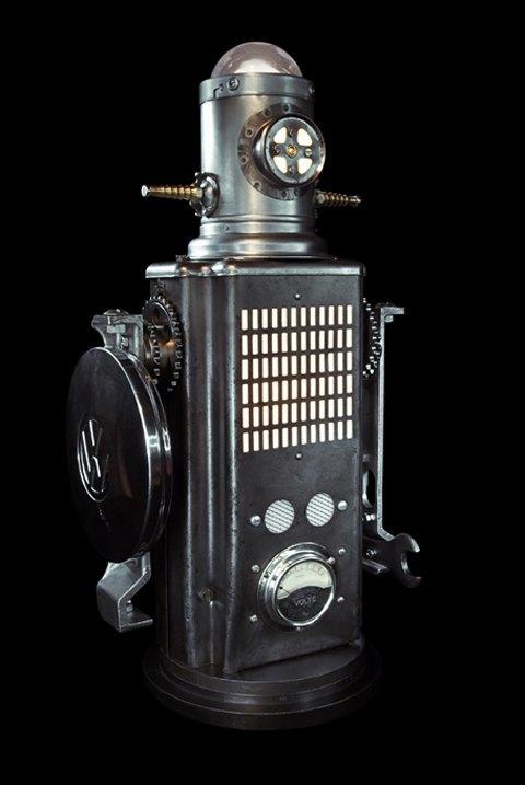 Фото: забавные роботы из промышленного мусора . Изображение № 9.