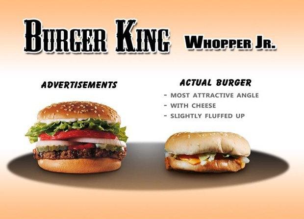 Фотограф сравнил бургеры в рекламе и в реальной жизни. Изображение № 4.