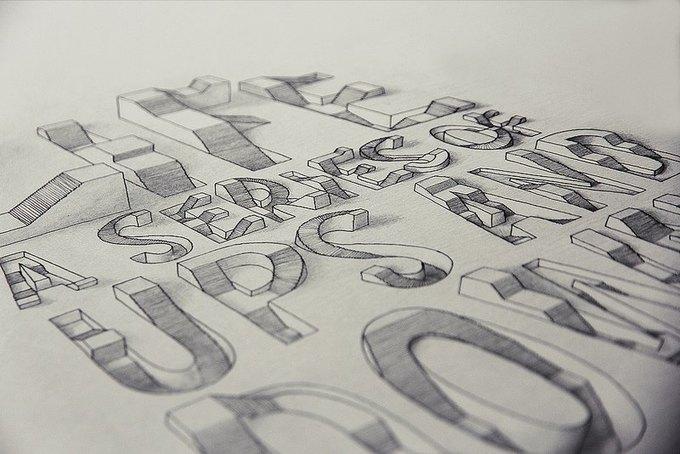 Иллюстратор рисует трёхмерные шрифты . Изображение № 7.
