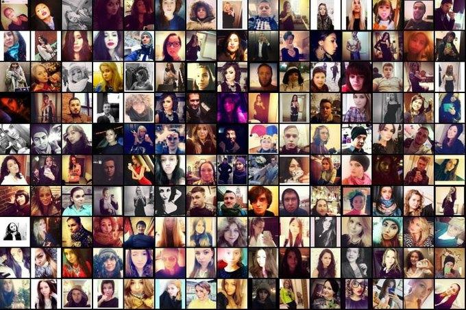 Случайная выборка селфшотов из Москвы для Selfiecity . Изображение № 1.