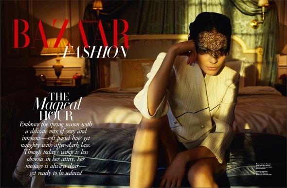 Kinga Rajzak by John-Paul Pietrus in Chanel for Harpers Bazaar. Изображение № 2.