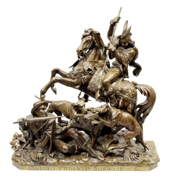 СКУЛЬПТУРНАЯ ИЛЛЮСТРАЦИЯ «Louis XI et Quentin Durward». Изображение № 1.