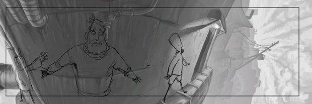Анимация: бродяга спасает пса встимпанковском городе. Изображение № 22.