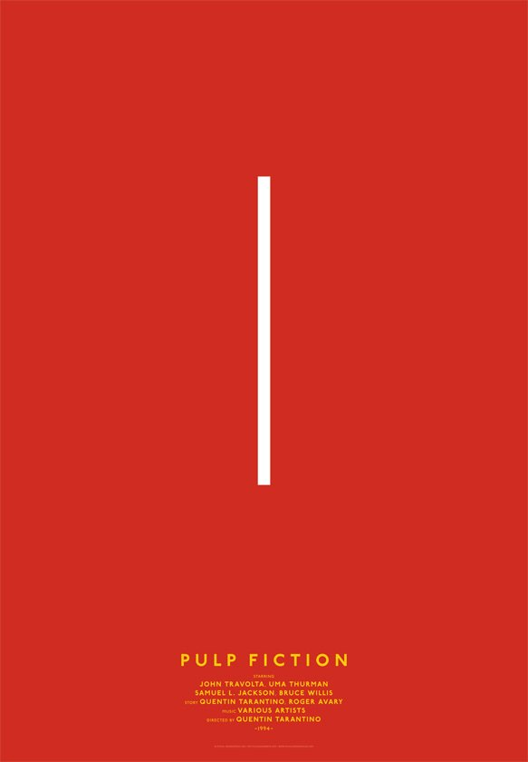 Дизайнер переделал постеры кинохитов в минималистском стиле. Изображение № 14.