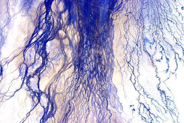 Астронавт выложил абстрактные фотографии Австралии с орбиты. Изображение № 1.