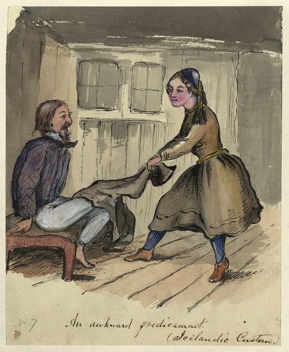 Исландия в середине XIX века: путевые рисунки американского дипломата. Изображение № 17.